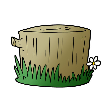 cartoon tree stump Archivio Fotografico - 95547119