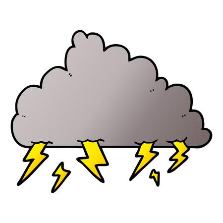Cartoon thundercloud illustration