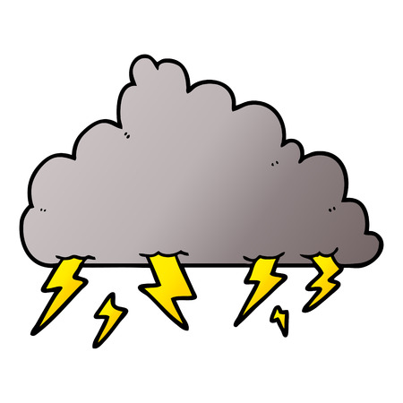 Cartoon thundercloud illustration