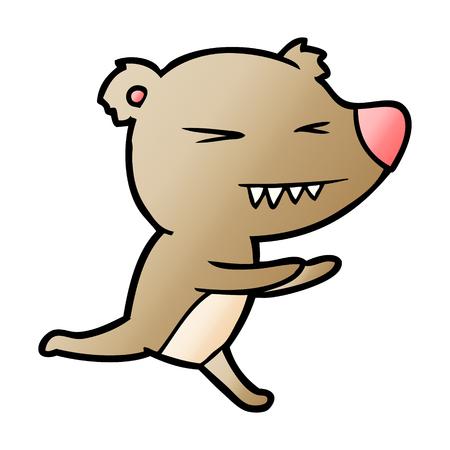 angry bear cartoon Stock Vector - 95545011