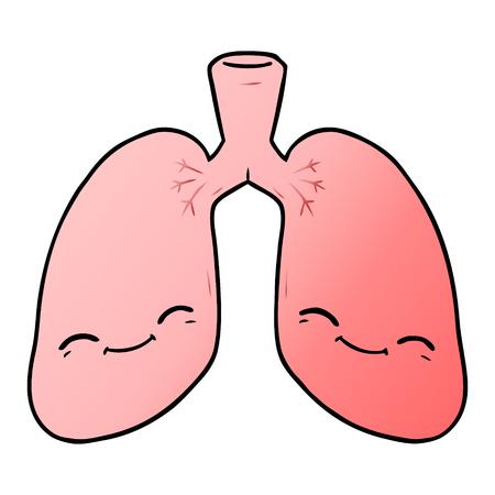 progettazione dell'illustrazione dei polmoni del fumetto. Vettoriali