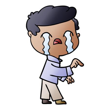 cartoon man crying Foto de archivo - 95545058