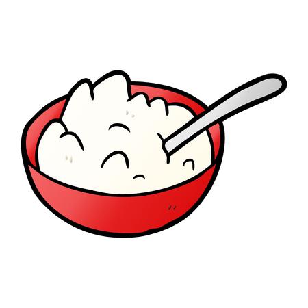 cartoon bowl of porridge