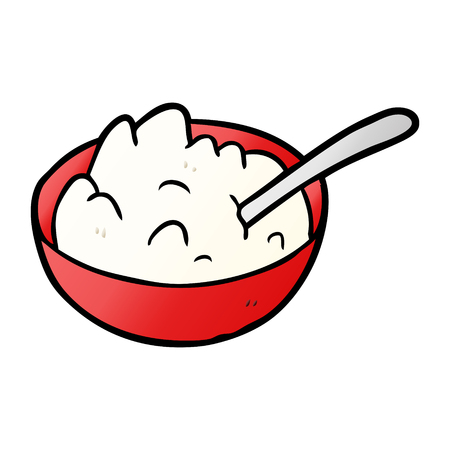 cartoon bowl of porridge Imagens - 95545090