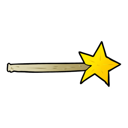cartoon magic star wand Illusztráció