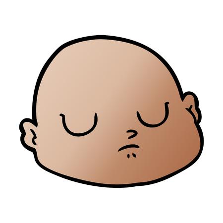 cartoon bald man