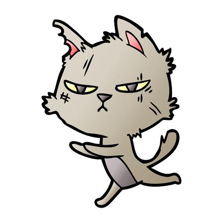 タフな漫画の猫ランニング