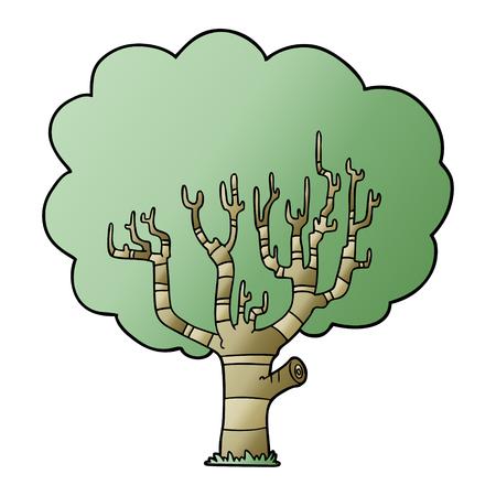 漫画の木のイラストデザイン。