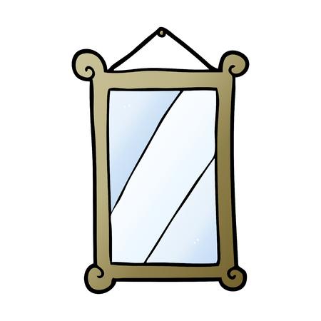 cartoon framed old mirror