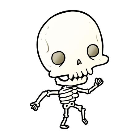 かわいい漫画ダンススケルトン