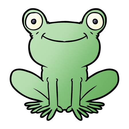 cartoon frog illustration design.