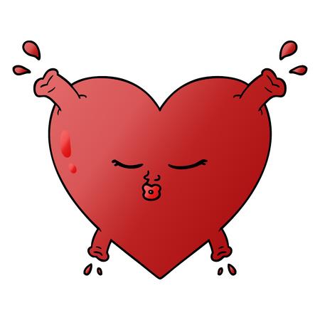cartoon heart illustration design.