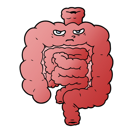 cartoon intestines illustration design. Stock Illustratie