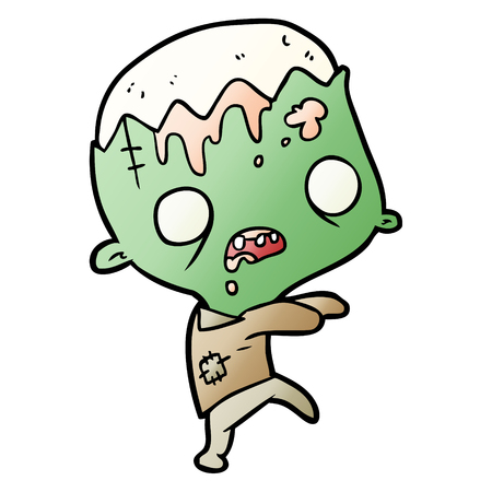 cute cartoon zombie 矢量图像