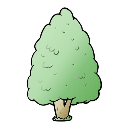 漫画の背の高い木  イラスト・ベクター素材