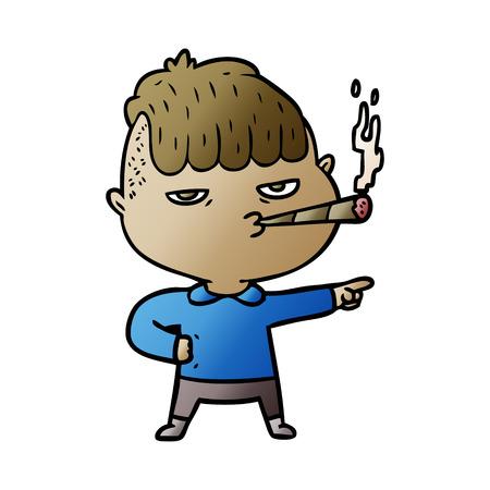 Cartoon Mann Rauchen Standard-Bild - 95545405