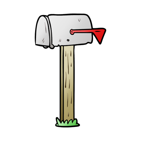 Cartoon mailbox illustration Illustration