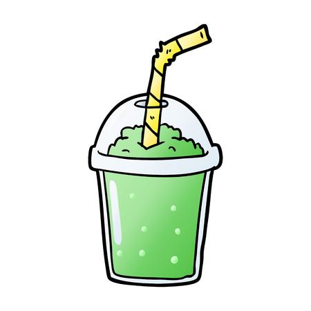 cartoon iced smoothie