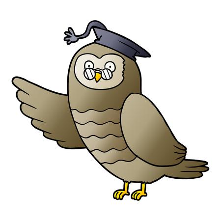cartoon owl graduate
