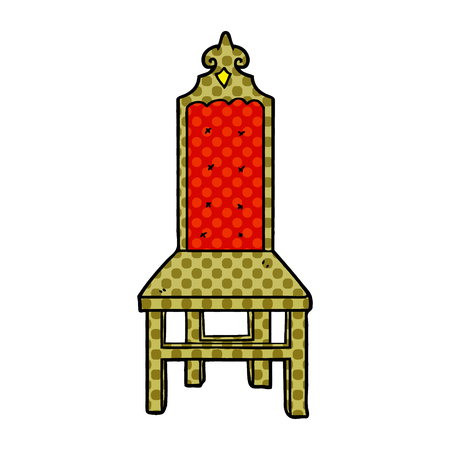 Hand drawn fancy cartoon chair Standard-Bild - 95640972