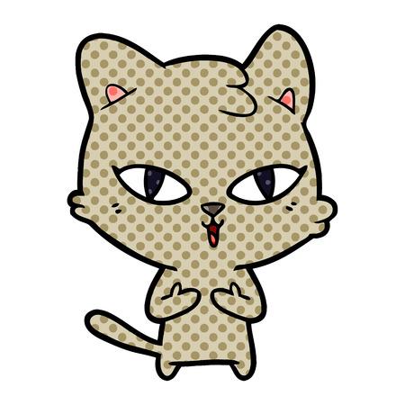 Hand drawn cartoon cat Иллюстрация