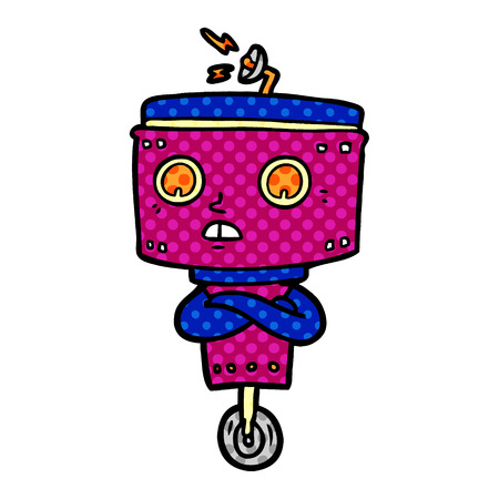 cartoon robot with crossed arms