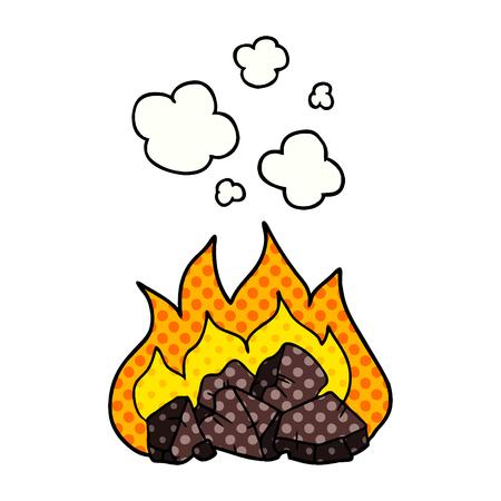 cartoon hot coals Illustration