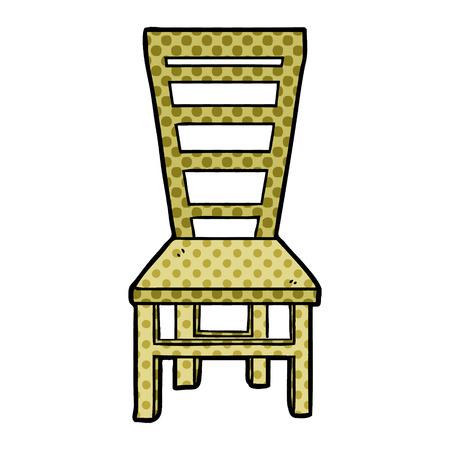 Dibujos animados de silla de madera vieja dibujada a mano Foto de archivo - 95642701