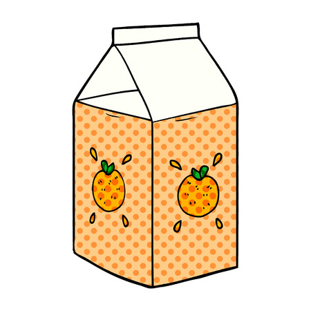 Hand drawn cartoon orange juice carton Zdjęcie Seryjne - 95642765