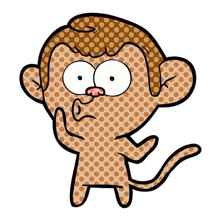 Cartoon schreiender Affe Standard-Bild - 95559955