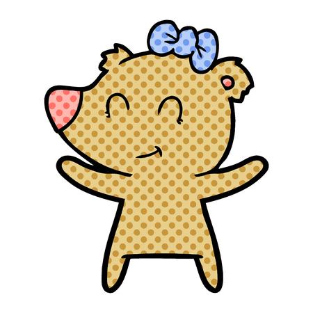 female bear cartoon Archivio Fotografico - 95559960