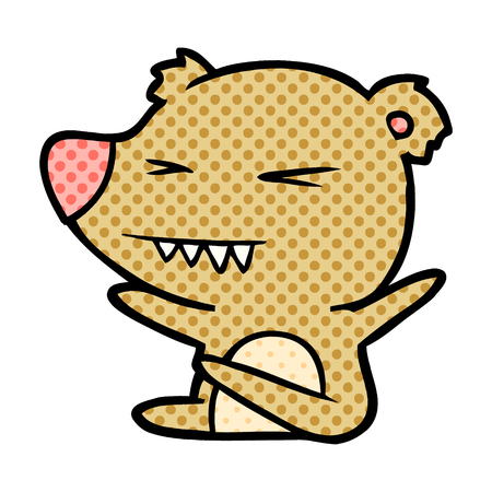 Angry bear cartoon Stock Vector - 95643924
