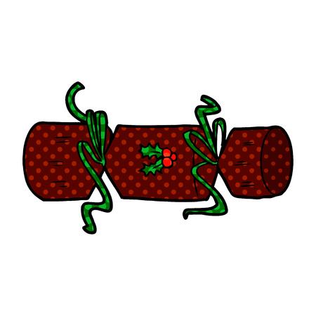 Christmas cracker cartoon Illustration