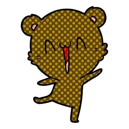 happy bear cartoon 스톡 콘텐츠 - 95562498