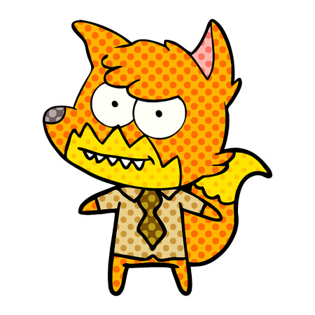 Cartoon grinning fox Stock fotó - 95644586