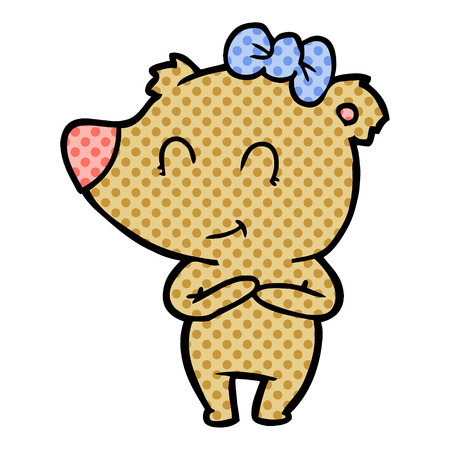 Female bear cartoon isolated on white background Archivio Fotografico - 95655444