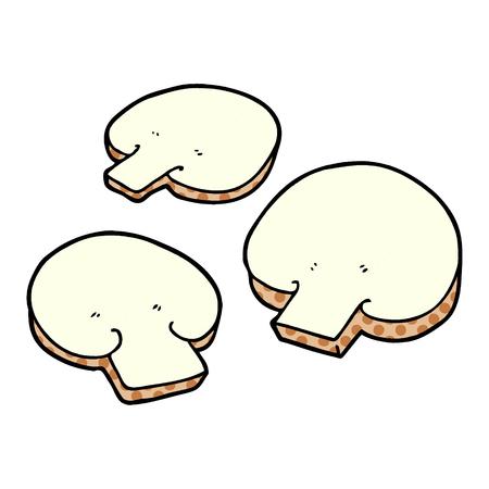 만화 버섯 일러스트