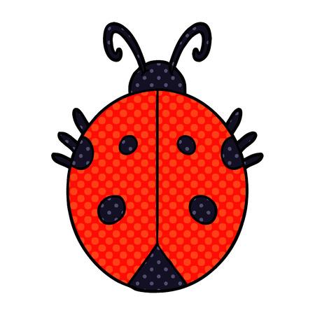 Cartoon ladybug isolated on white background Illustration