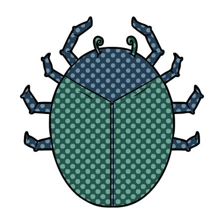 Giant bug cartoon isolated on white background