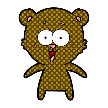 laughing teddy  bear cartoon