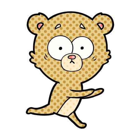 Worried bear cartoon Illustration