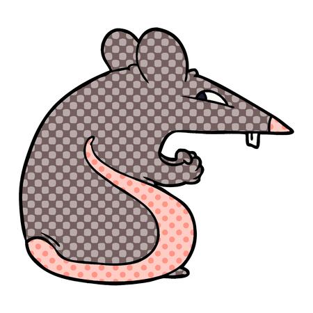 Sly cartoon rat