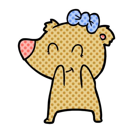 Female bear cartoon Archivio Fotografico - 95659926