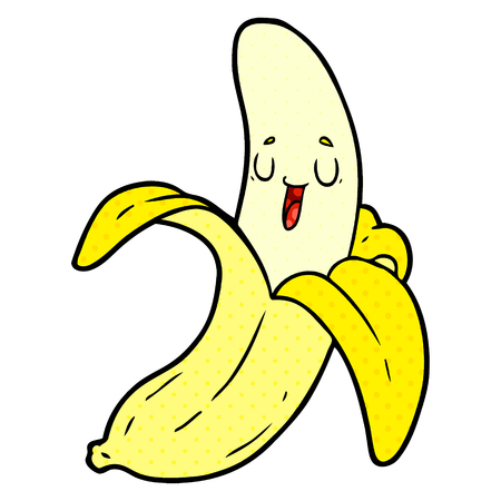 Cartoon happy banana
