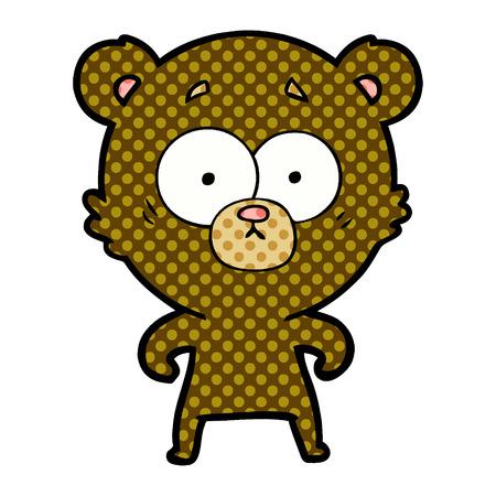 surprised bear cartoon