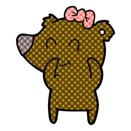 female bear cartoon Archivio Fotografico - 95588965