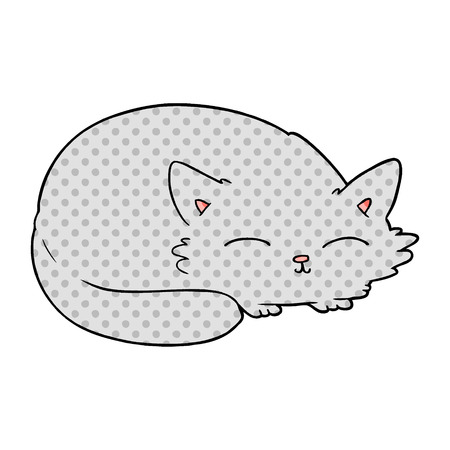 Cartoon cat sleeping Stock Illustratie