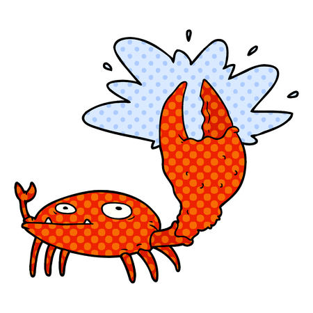 Cartoon crab with big claw
