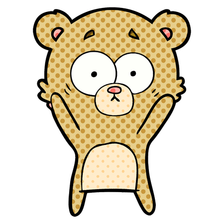 Worried bear cartoon Vectores
