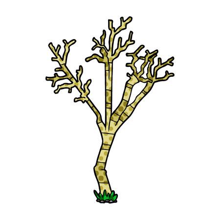 Cartoon winter tree